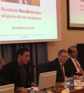 Emiliano Brancaccio, Ignazio Visco e Jean Paul Fitoussi al convegno su de Cecco